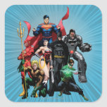 Justice League - Group 2 Square Stickers