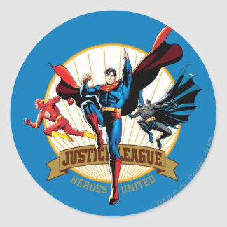 Justice League Heroes United Round Sticker