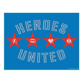 Justice League Heroes Untied Logos Postcard
