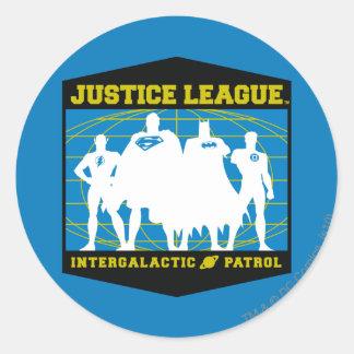 Justice League Intergalactic Patrol Round Sticker