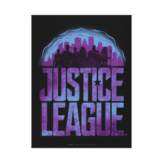 Justice League | Justice League City Silhouette Canvas Print