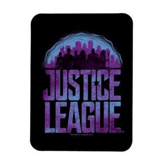 Justice League | Justice League City Silhouette Magnet