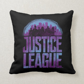 Justice League | Justice League City Silhouette Throw Pillow