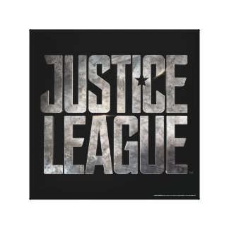Justice League | Justice League Metallic Logo Canvas Print
