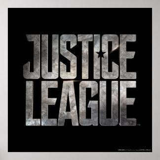 Justice League   Justice League Metallic Logo Poster