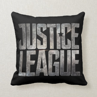 Justice League | Justice League Metallic Logo Throw Pillow