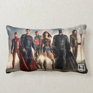Justice League | Justice League On Battlefield Lumbar Pillow