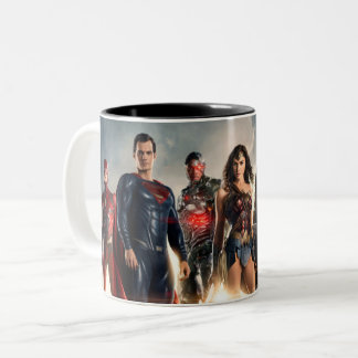 Justice League | Justice League On Battlefield Two-Tone Coffee Mug