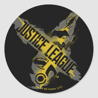Justice League | Justice League & Team Symbols Classic Round Sticker