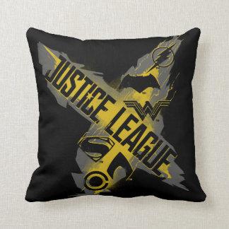 Justice League | Justice League & Team Symbols Throw Pillow
