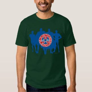 Justice League Logo and Solid Character Background Tee Shirt