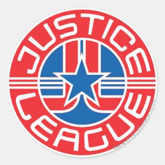 Justice League Logo Round Sticker