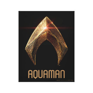 Justice League | Metallic Aquaman Symbol Canvas Print