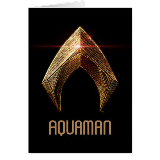 Justice League | Metallic Aquaman Symbol Card