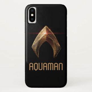 Justice League | Metallic Aquaman Symbol Case-Mate iPhone Case