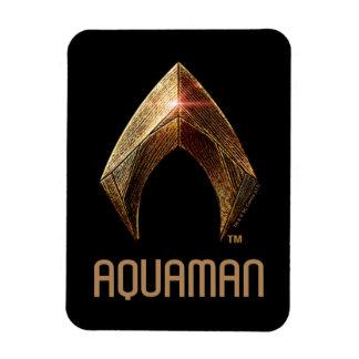 Justice League | Metallic Aquaman Symbol Magnet