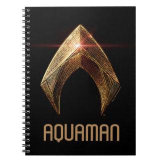Justice League | Metallic Aquaman Symbol Notebook