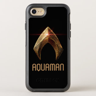 Justice League | Metallic Aquaman Symbol OtterBox Symmetry iPhone 8/7 Case