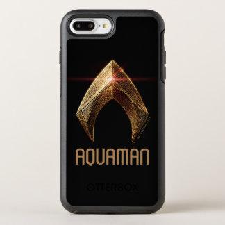 Justice League | Metallic Aquaman Symbol OtterBox Symmetry iPhone 8 Plus/7 Plus Case