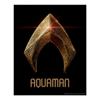 Justice League | Metallic Aquaman Symbol Poster
