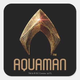 Justice League | Metallic Aquaman Symbol Square Sticker