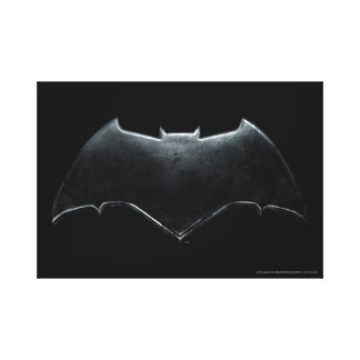 Justice League | Metallic Batman Symbol Canvas Print