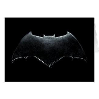 Justice League | Metallic Batman Symbol Card