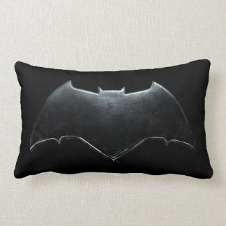 Justice League | Metallic Batman Symbol Lumbar Pillow