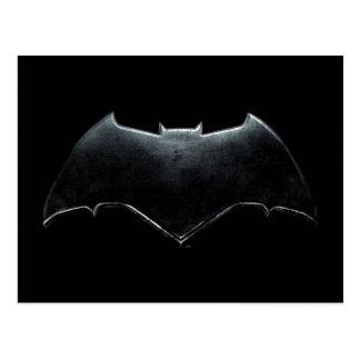 Justice League | Metallic Batman Symbol Postcard