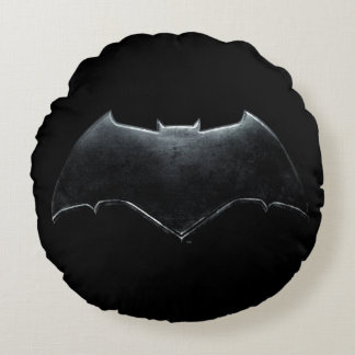 Justice League | Metallic Batman Symbol Round Pillow