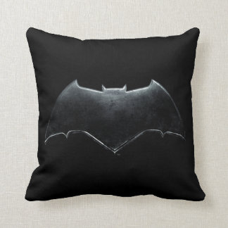 Justice League | Metallic Batman Symbol Throw Pillow