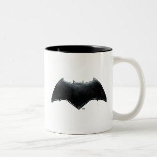 Justice League | Metallic Batman Symbol Two-Tone Coffee Mug