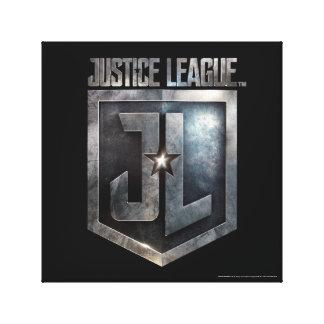 Justice League | Metallic JL Shield Canvas Print