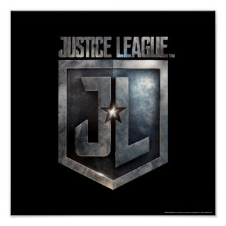 Justice League | Metallic JL Shield Poster