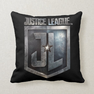 Justice League | Metallic JL Shield Throw Pillow