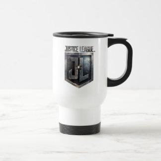 Justice League   Metallic JL Shield Travel Mug
