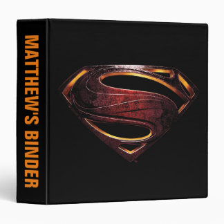 Justice League | Metallic Superman Symbol 3 Ring Binder