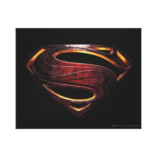 Justice League | Metallic Superman Symbol Canvas Print