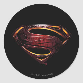Justice League | Metallic Superman Symbol Classic Round Sticker