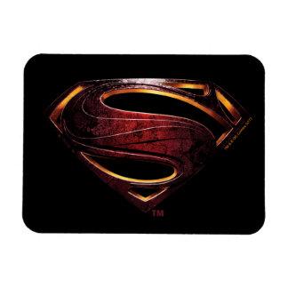 Justice League   Metallic Superman Symbol Magnet