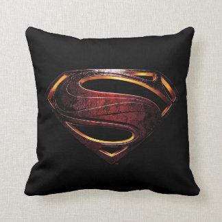 Justice League | Metallic Superman Symbol Throw Pillow