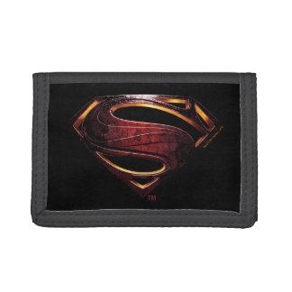 Justice League | Metallic Superman Symbol Tri-fold Wallets