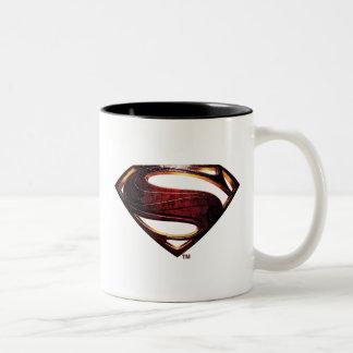 Justice League | Metallic Superman Symbol Two-Tone Coffee Mug