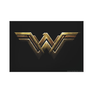 Justice League | Metallic Wonder Woman Symbol Canvas Print