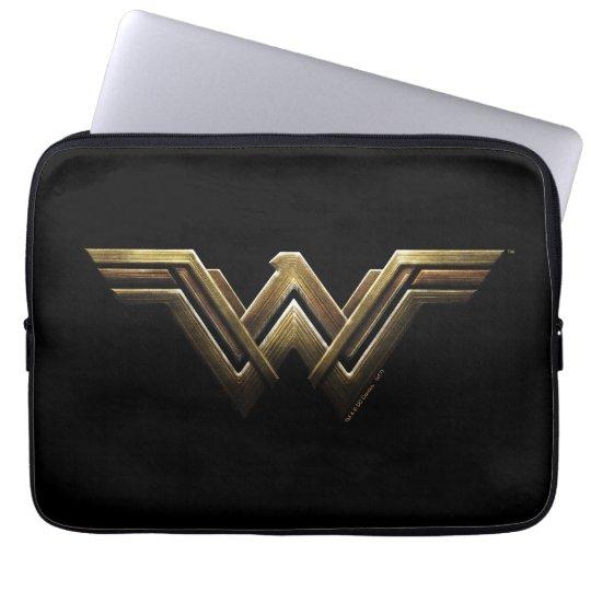 Justice League   Metallic Wonder Woman Symbol Laptop Sleeve