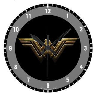 Justice League | Metallic Wonder Woman Symbol Large Clock