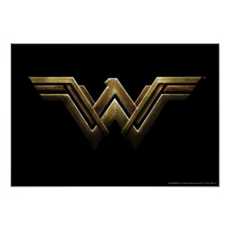 Justice League | Metallic Wonder Woman Symbol Poster
