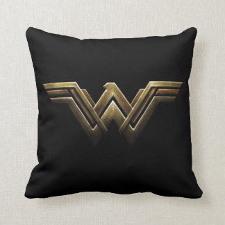 Justice League | Metallic Wonder Woman Symbol Throw Pillow