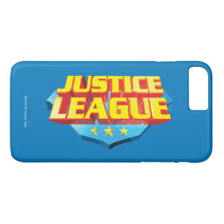 Justice League Name and Shield Logo iPhone 8 Plus/7 Plus Case
