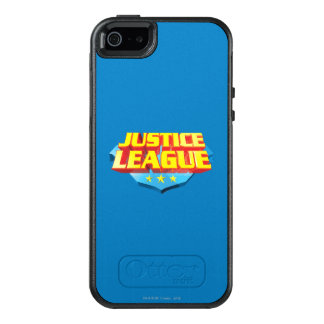 Justice League Name and Shield Logo OtterBox iPhone 5/5s/SE Case